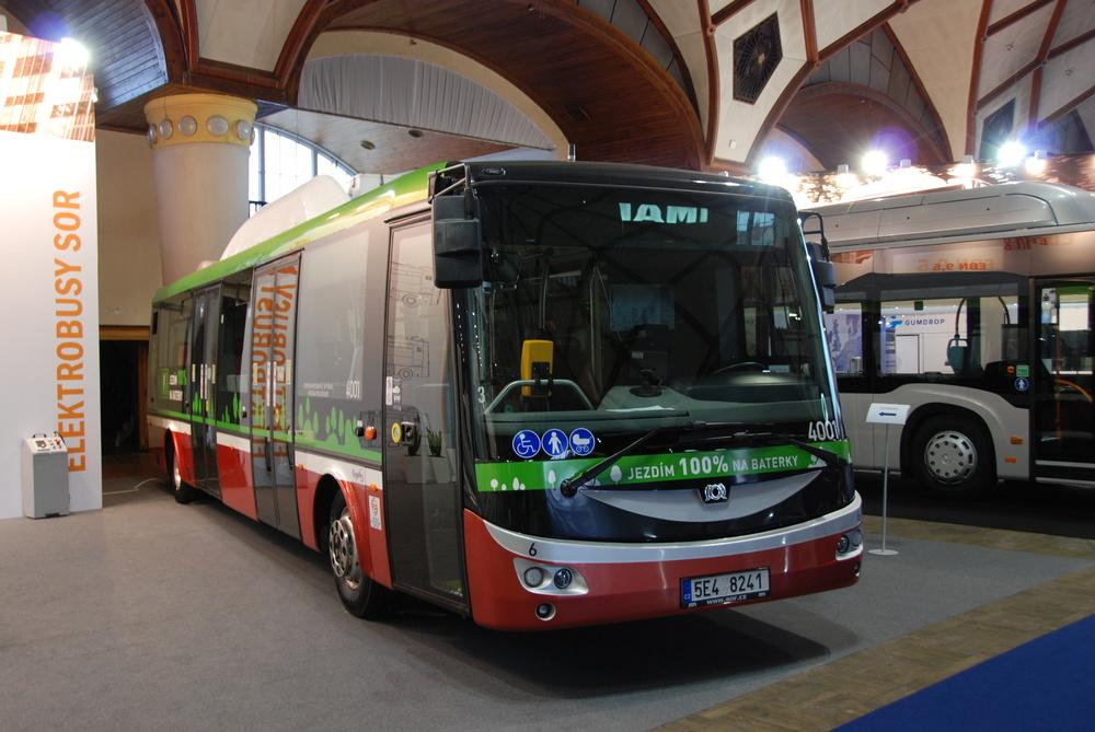 Ilustrační fotografie elektrobusu SOR EBN 11 testovaného pražským DP. (foto: Libor Hinčica)