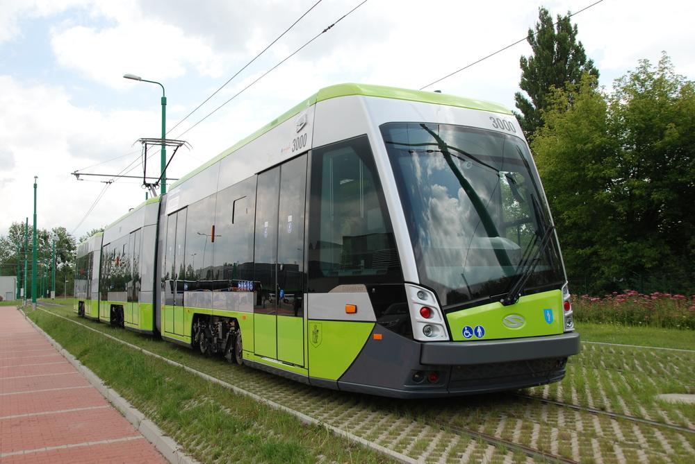 Tramino pro Olsztyn během zkoušek v Poznani. (foto: Libor Hinčica)