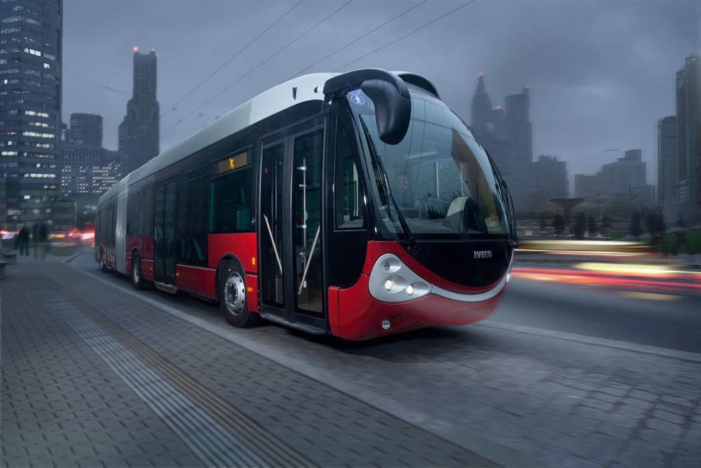 Trolejbus Iveco Crealis Neo na propagačním obrázku Škody Electric. (zdroj: Škoda Electric)