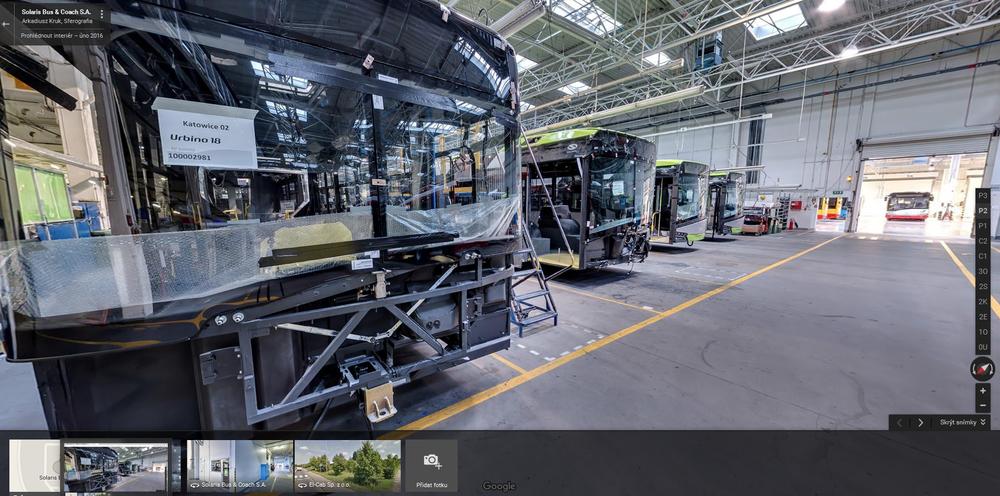 Pohled do výrobního závodu Solarisu díky Googlu. (zdroj: ČS Dopravák)