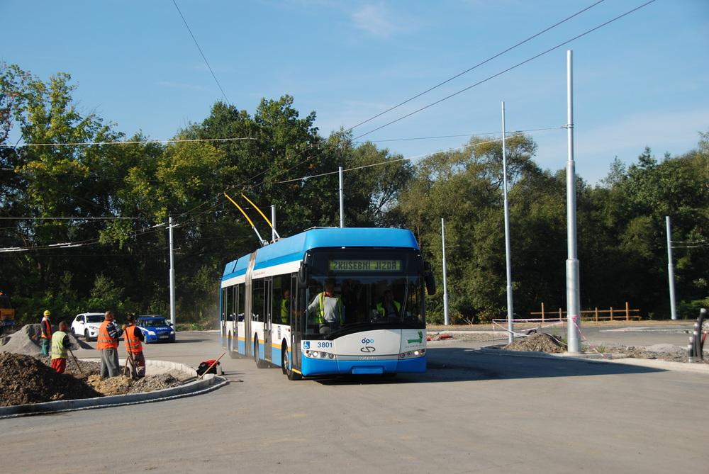 První zkušební jízda na terminál Hranečník dne 22. 9. 2015. (foto: Libor Hinčica)