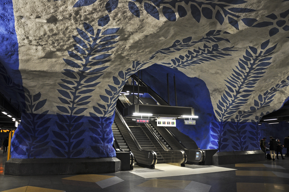 Stanice metra T-Centralen je centrálním přestupním bodem, jenž vznikl v 70. letech. (foto: Petr Malinovský)