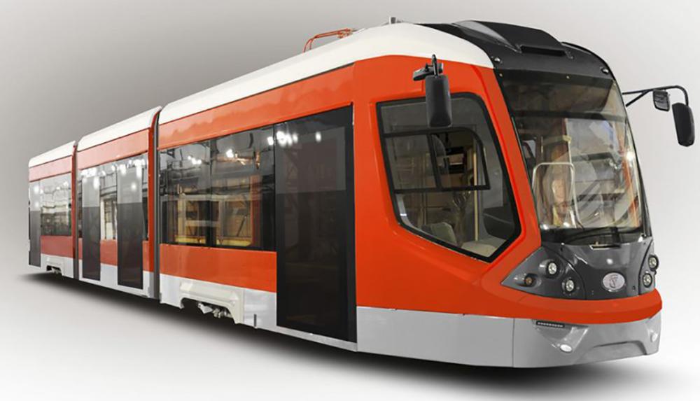 Vizualizace nové tramvaje 71-922, jež by měla zamířit do Jevpatorije.