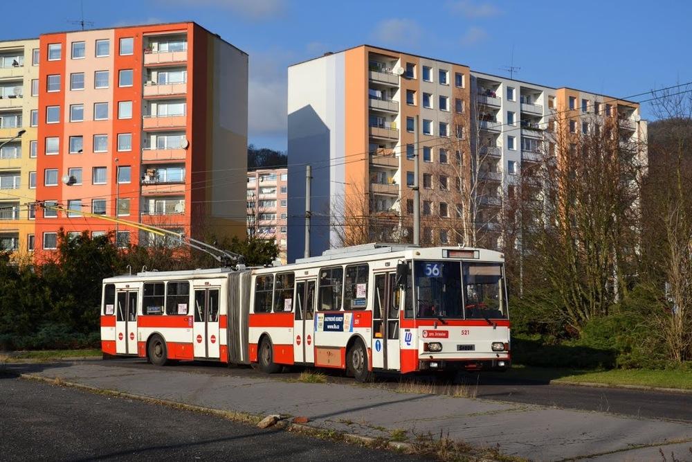 Jen dva vozy Škoda 15 Tr02/6 z nejstarší dodávky pro Ústí nad Labem se dožily roku 2016. Šlo o vozy ev. č. 521 a 524. (foto: Martin Čepický)