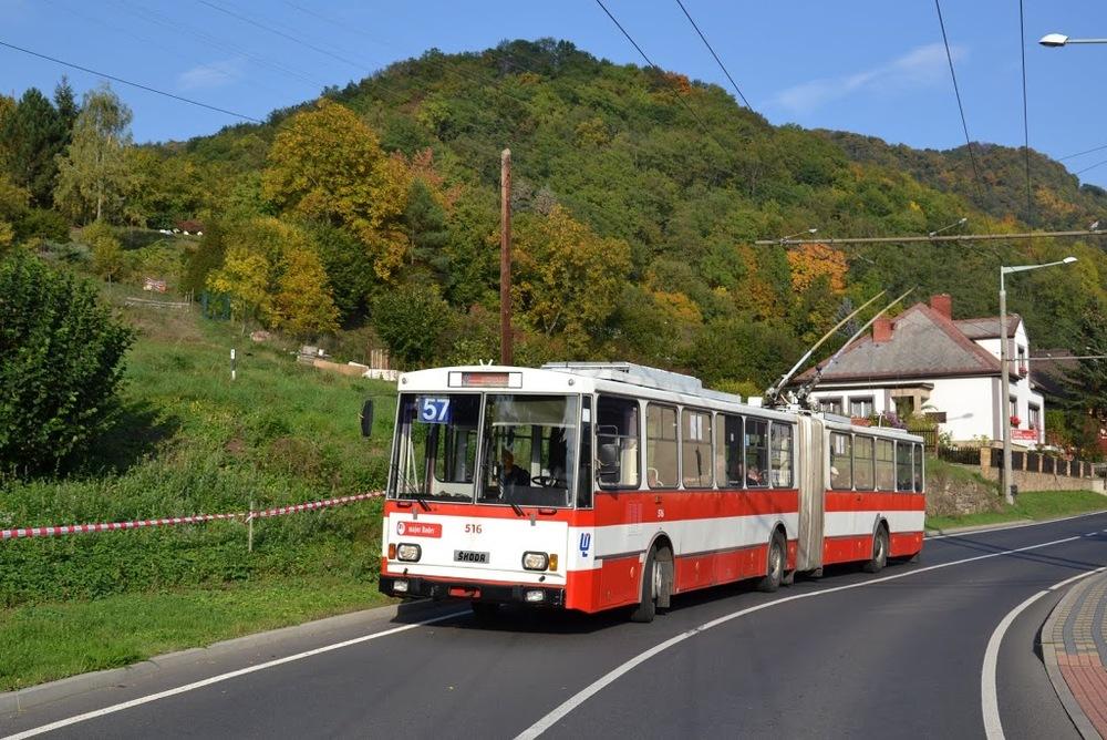 Trolejbus ev. č. 516 čeká likvidace. (foto: Martin Čepický)