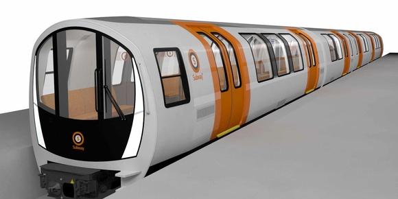 Návrh jednotek metra pro Glasgow. (zdroj: Stadler)