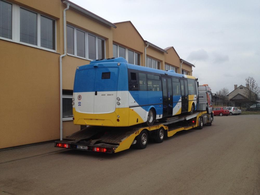 Zadní pohled na elektrobus SOR EBN 11 pro Košice. (foto: ČS Dopravák)