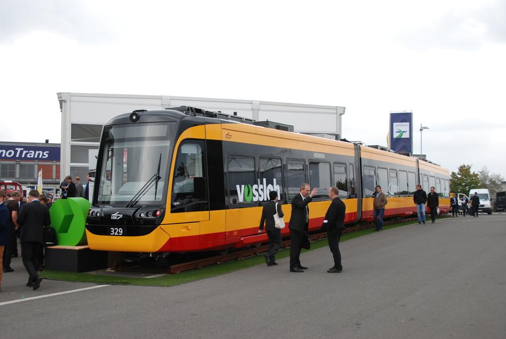 Vlakotramvaj Citylinkk NET 2012 na veletrhu InnoTrans 2014. (foto: Libor Hinčica)