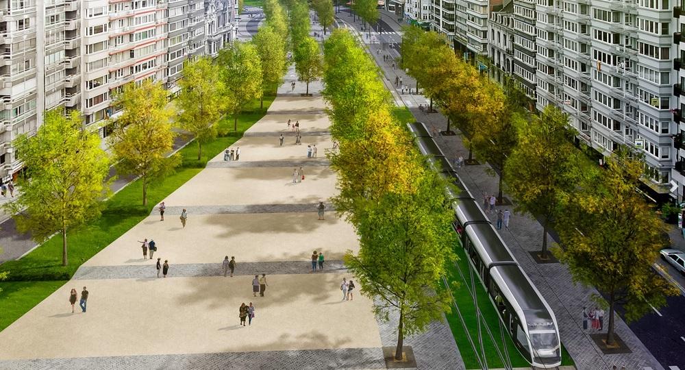 Asi není potřeba zdůrazňovat, že nová tramvajová trať by měla povznést také celkový veřejný prostor. (zdroj: www.keskistram.be)