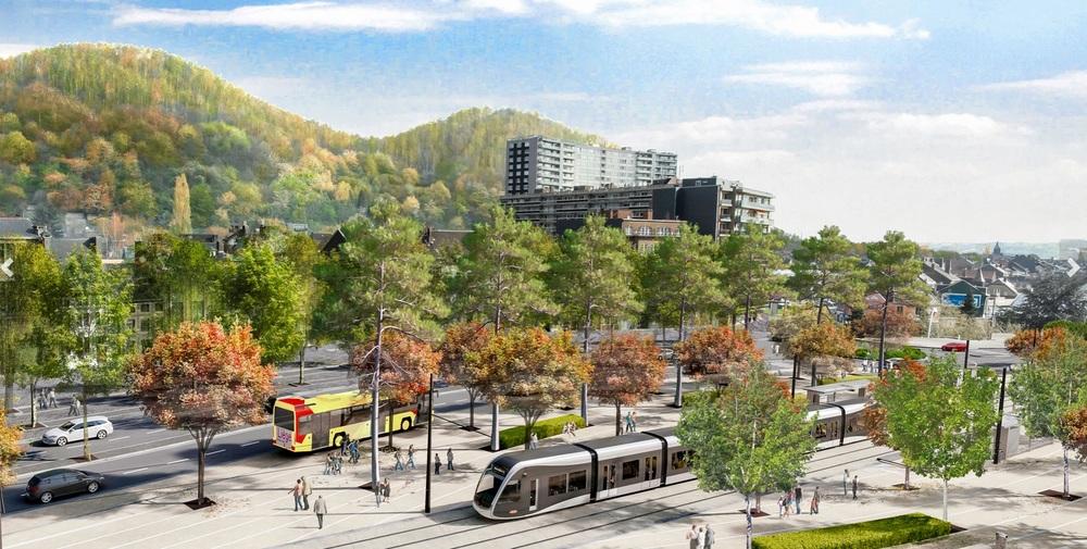 První úsek tramvaje má mít délku 11 km. Počítalo se s vozidly Alstom Citadis 405. (zdroj: www.keskistram.be)