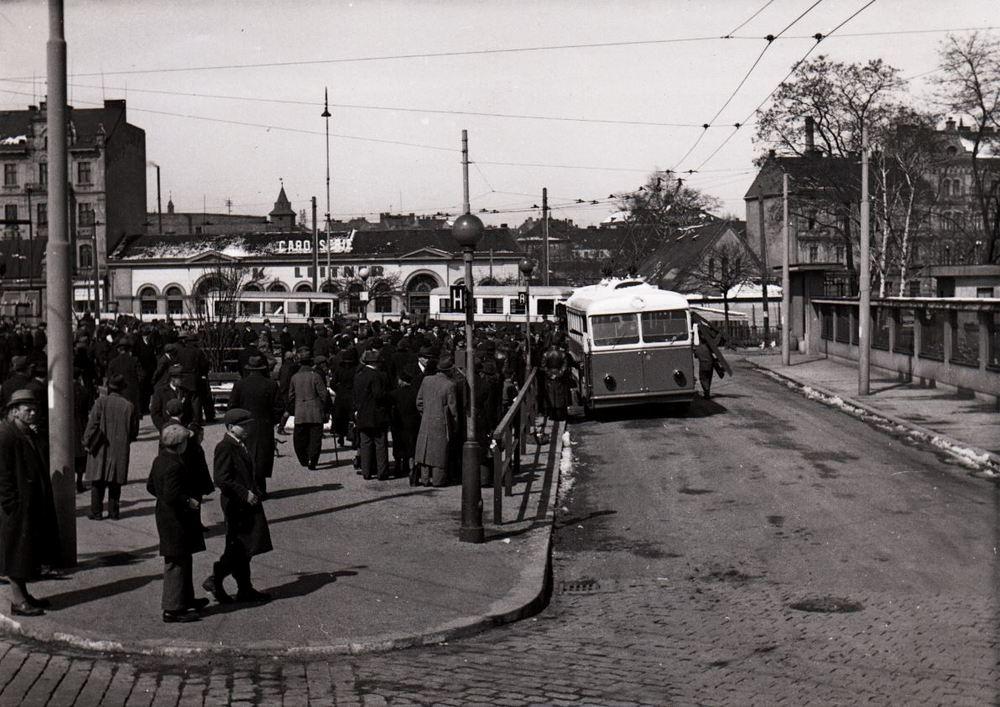 Trolejbusovou dopravu v Plzni zahajovaly trolejbusy Škoda 3 Tr. (zdroj: PMDP)