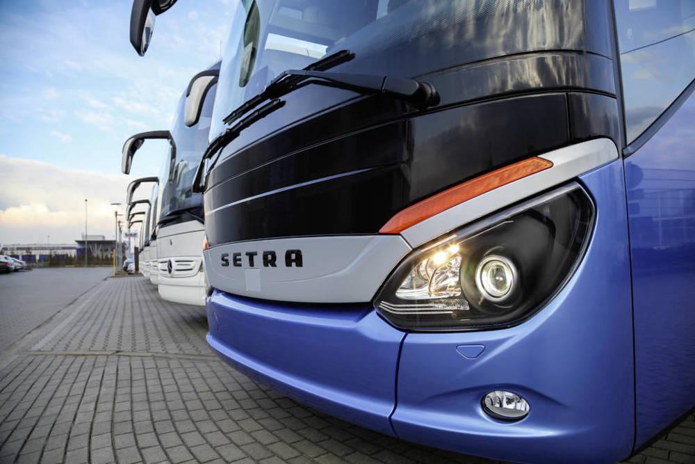 60 vozů Tourismo doplňují tři autobusy Setra řady 500. (foto: EvoBus)