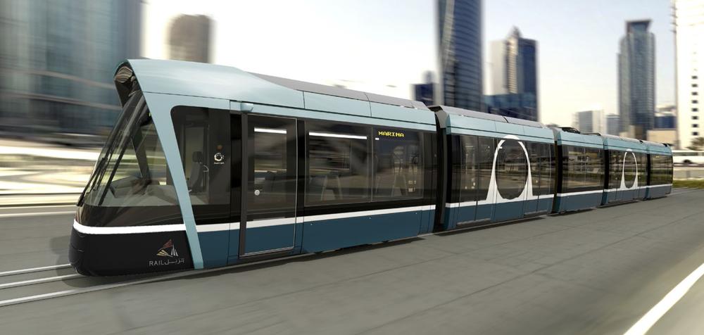 Designové řešení tramvaje Alstom Citadis pro Lusail. (zdroj: Alstom)