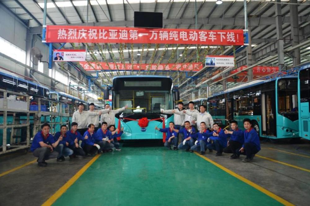 10 000. elektrobus BYD odpovídá 10,5m verzi (typ BYD K8). (foto: BYD)