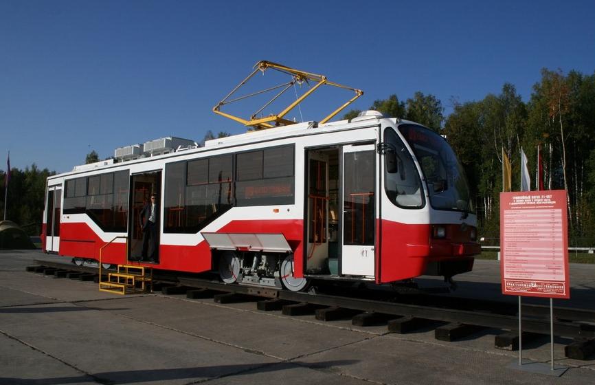Tramvaje, které svým charakterem odpovídají českým vozům VarioLF, nalezneme v řadě měst bývalého SSSR. Svůj vlastní produkt má i Uraltransmaš. (zdroj: Uraltransmash.ru)