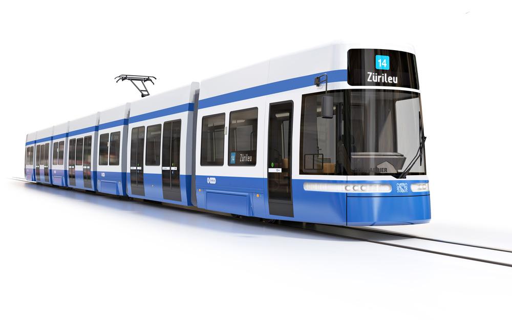 Takto by měly nové tramvaje pro Curych vypadat - Bombardier Flexity 2. (zdroj: VBZ)