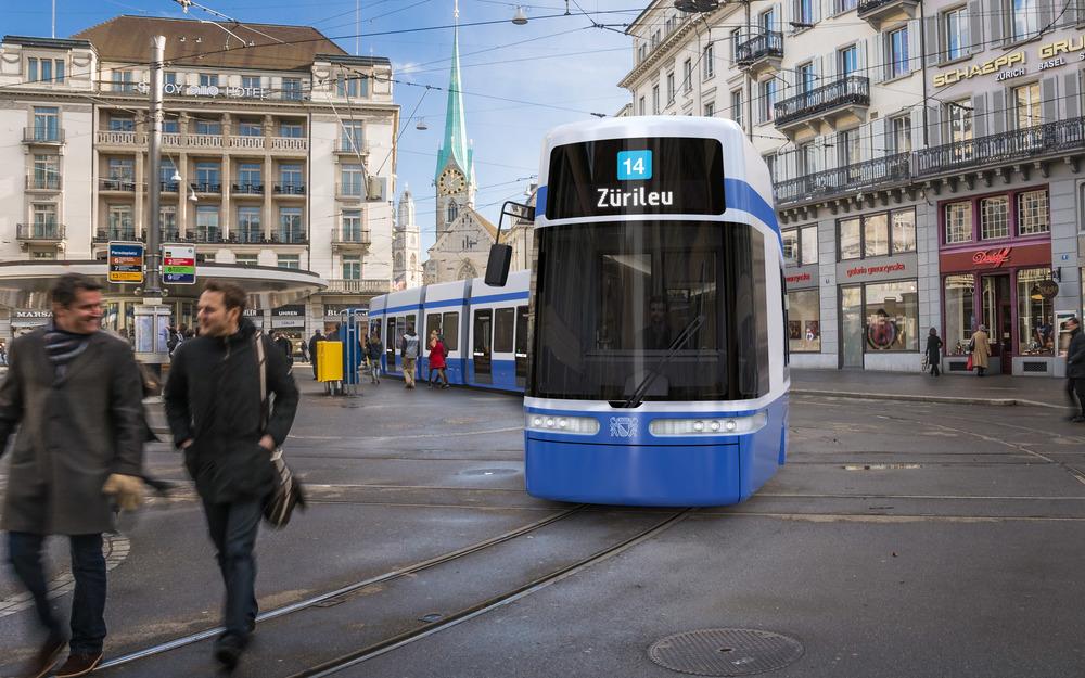 Nové tramvaje mají dosahovat délky 43 m. Dodavatelem bude Bombardier. (zdroj: VBZ)