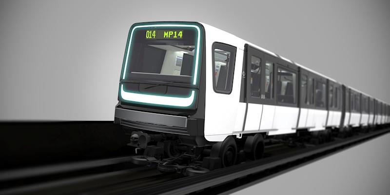 Nové soupravy MP14 pro pařížské metro. (zdroj: Alstom)