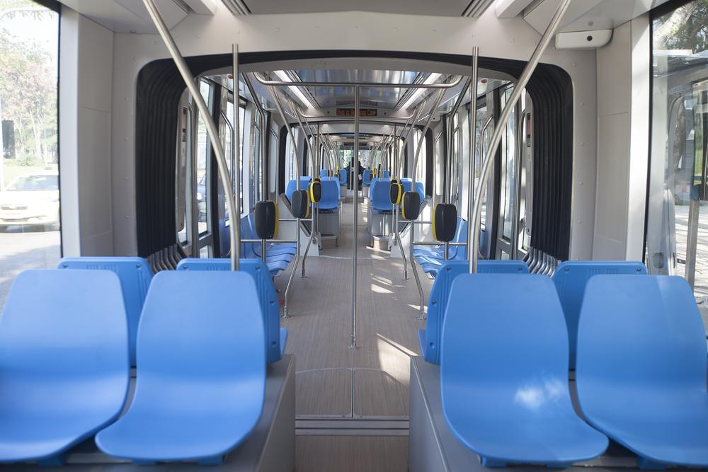 Pohled do interiéru tramvaje Alstom Citadis pro Rio de Janeiro. (foto: Alstom)