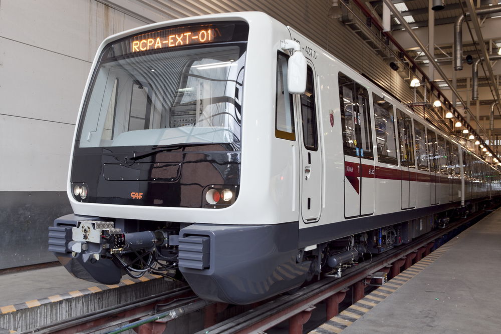 Soupravy metra dodal CAF také do Říma. (foto. CAF)