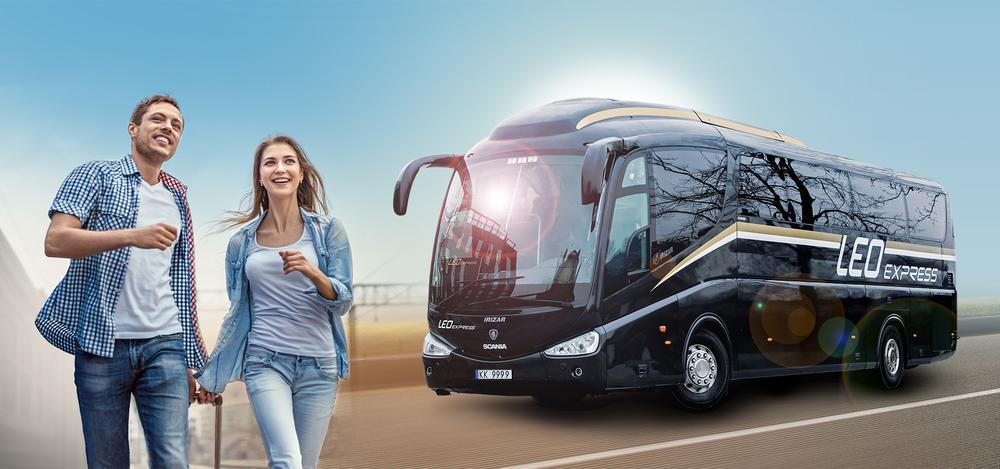 Scania Irizar na propagačním snímku provozovatele. (foto: LEO Express)