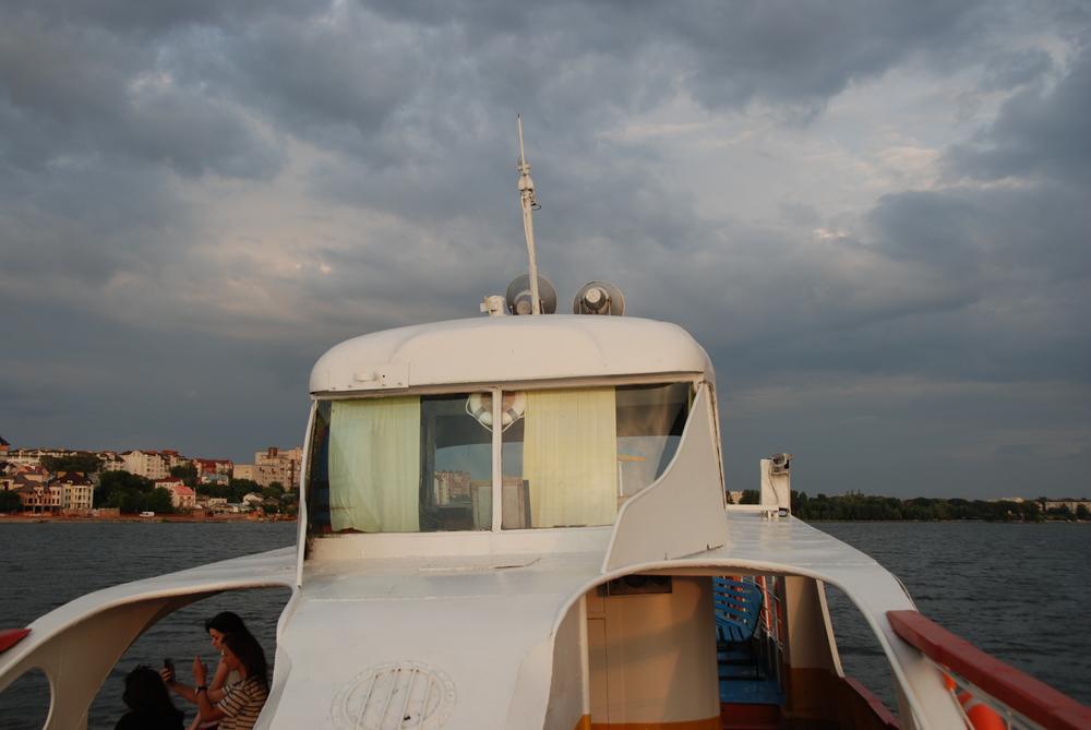 Původní přední čelo naopak směřuje k zádi lodi. (foto: Libor Hinčica)