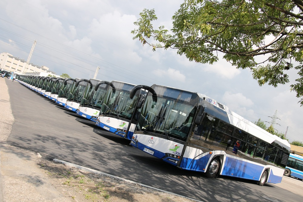 Nové autobusy Solaris New Urbino pro Krakov. (foto: Solaris Bus & Coach)