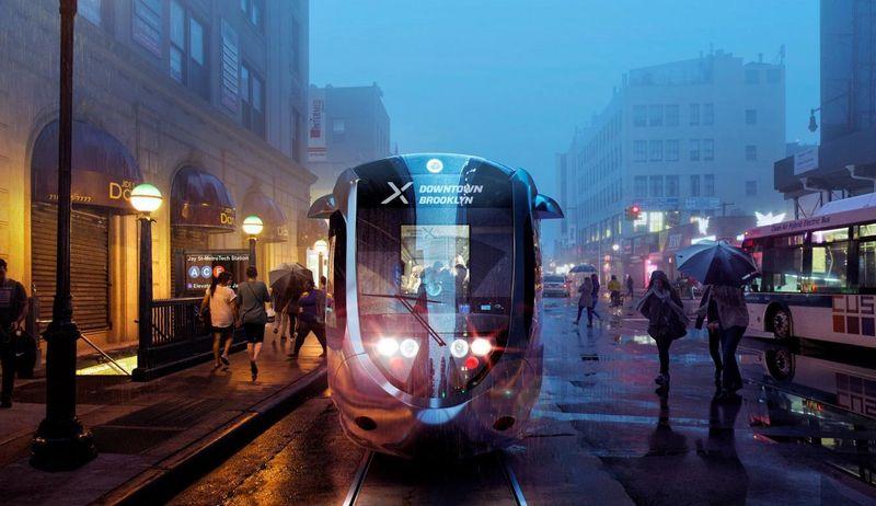 Vizualizace tramvaje nově navrhovaného systému, pro nějž se používá zkratka BQX (zdroj: BQX)
