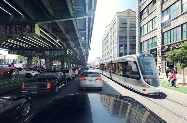Tramvaje by měly přinést zrychlení dopravy ve městě. Na rozdíl od metra by však měly mít častější zastávky. (zdroj: BQX)