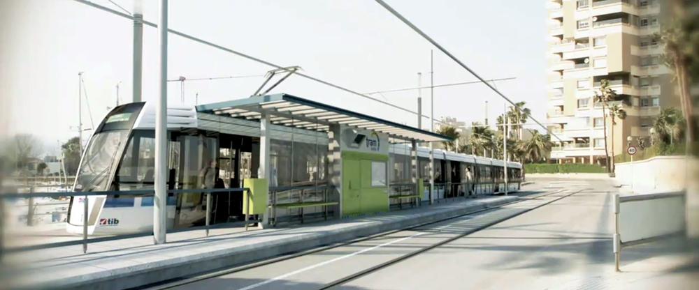 Vizualizace tramvaje v Palmě. (zdroj: Wikipedia.org)