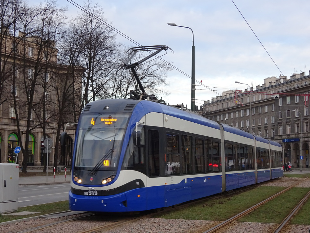 Poslední nové tramvaje dodala do Krakova polská PESA. (zdroj: Wikipedia.org)