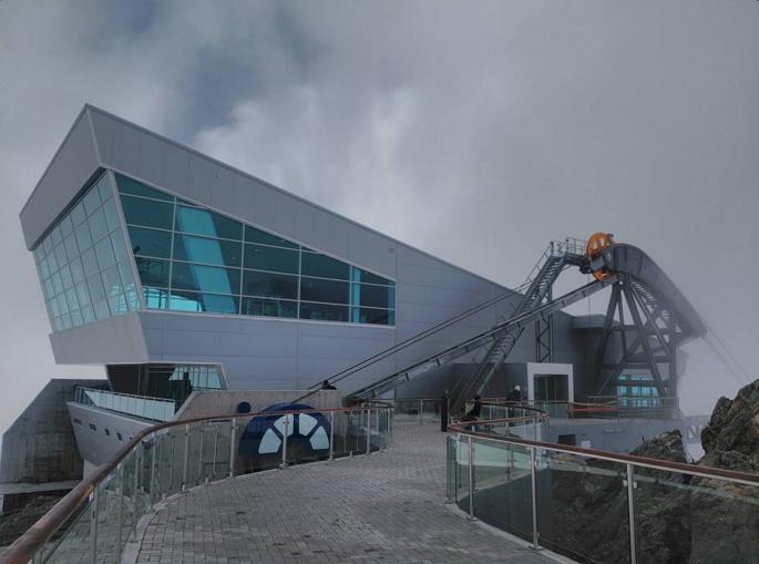 A takovouto podobu má stanice na hoře Pico Espejo dnes. (zdroj: Wikipedia.org)