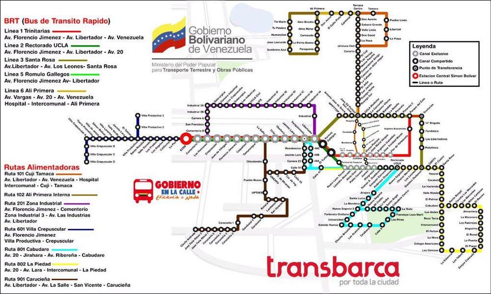 Síť Transbarcy dnes. Šedě vyznačené body přesně ukazují, kde se podařilo koridory vybudovat. (zdroj: Transbarca)
