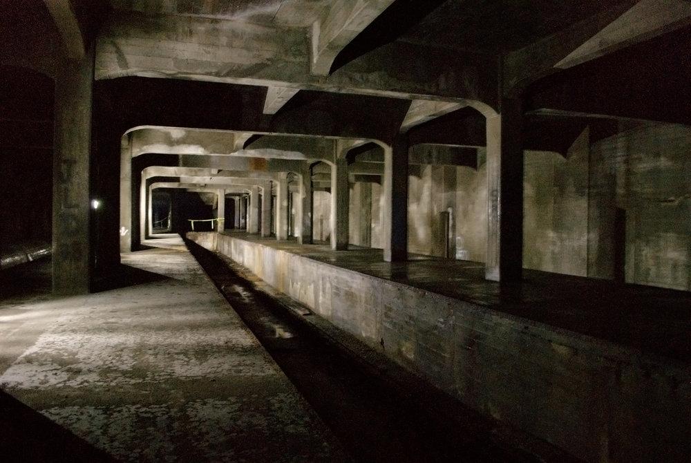 Opuštěná podzemní stanice metra v Cincinnati. (zdroj: Wikipedia.org)