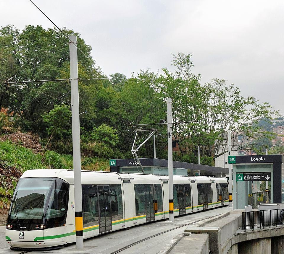 A ještě jednou zastávka Loyola. (foto:Empresa de Transporte Masivo del Valle de Aburrá Limitada)