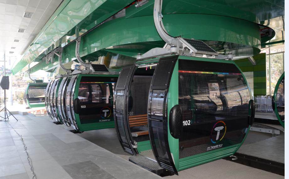 Zelená linka byla otevřena jako poslední, dne 4. prosince 2014, a dá se z ní přímo přestoupit na linku žlutou. (foto:Ministerio de Comunicación del Estado Plurinacional de Bolivia)