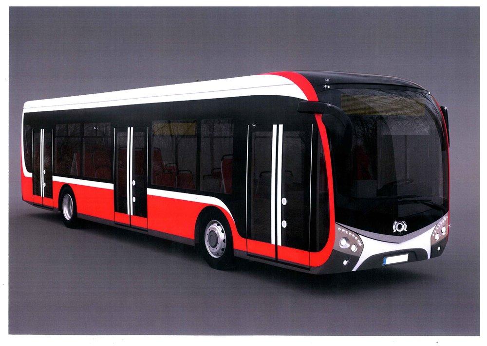 Vizualizace konceptu nového elektrobusu značky SOR. (zdroj: SOR)