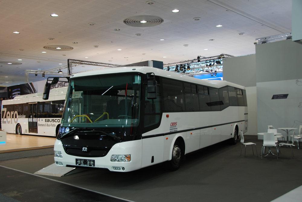 SOR Libchavy se na veletrhu prezentoval i stávající produkcí, konkrétně autobusem SOR CN 12 pro německého dopravce OBS. V Německu již jezdí více než 100 vozů značky SOR. (foto: Libor Hinčica)