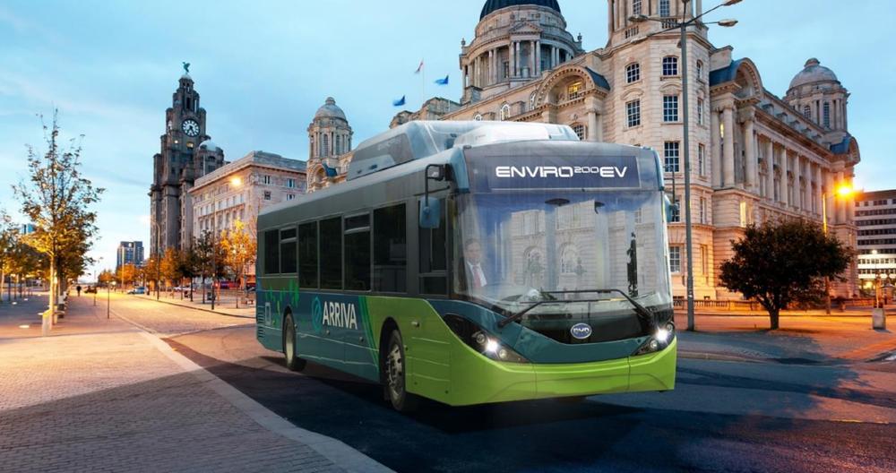 Elektrobus BYD ADL Enviro200EV pro Liverpool na vizualizaci výrobců. (zdroj:BYD)