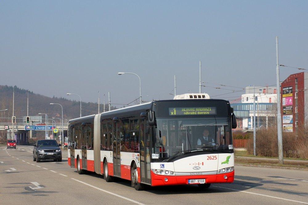 Solaris Urbino 18 brněnského DP. (ilustrační foto, autor: Adam Zemek)