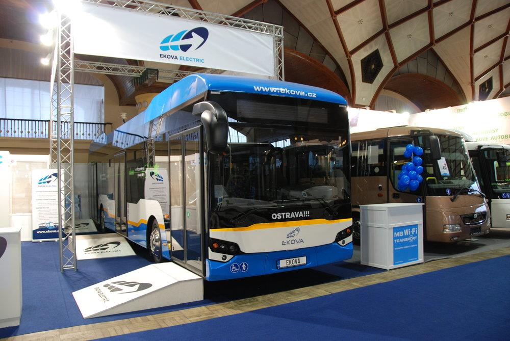 CZECHBUS přinesl i tuzemskou premiéru jednoho z provedení elektrobusu Electron od Ekovy Electric. (foto: Libor Hinčica)