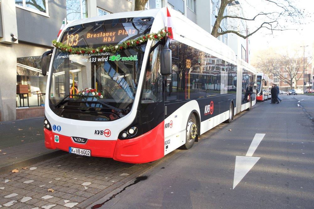 Elektrobus VDL Citea SLFA Electric v Kolíně nad Rýnem. (foto: VDL Bus & Coach)