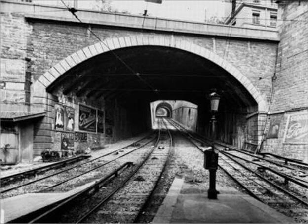 Spodní stanice lanové dráhy Rue Terme – Croix-Rousse v 19. století (Zdroj: www.eltis.org)