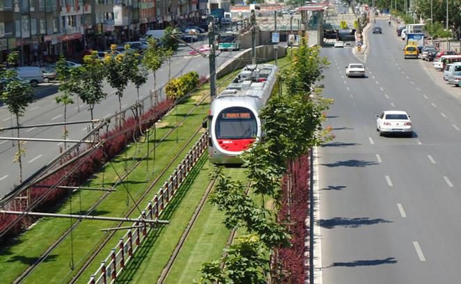 Vizualizace tramvajové tratě v Diyarbakiru. (zdroj: www.demiryol.net)