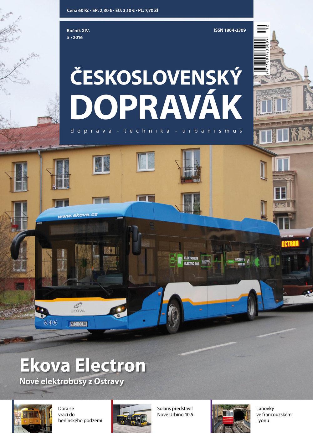 Titulní strana  čísla 5/2016 .