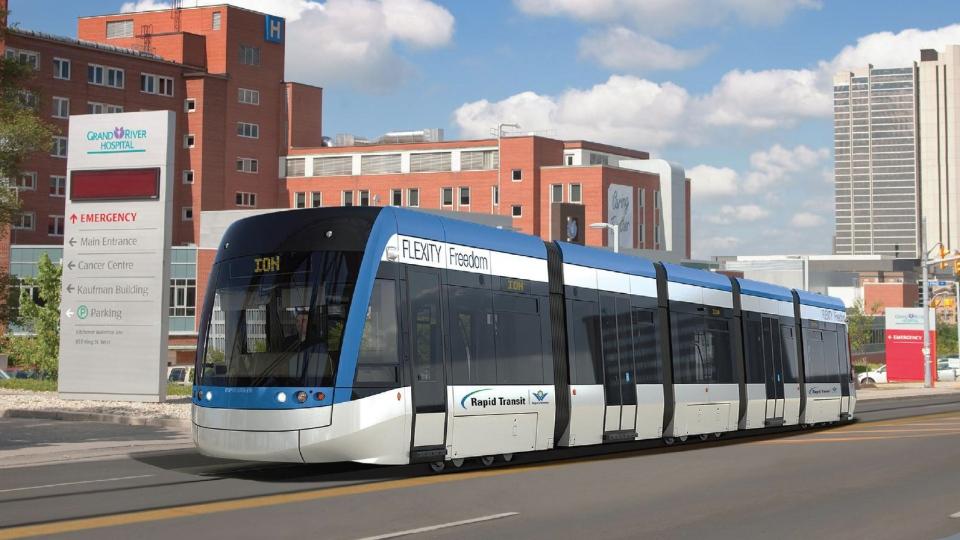 Flexity Freedom je verze tramvají pro USA a Kanadu. Sloužit by měla i ve Waterloo. (zdroj: Wikipedia.org)