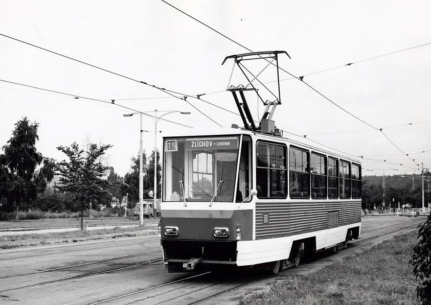 """Prototyp """"té pětky"""" ještě v Praze pod ev. č. 8000. (sbírka: Libor Hinčica)"""