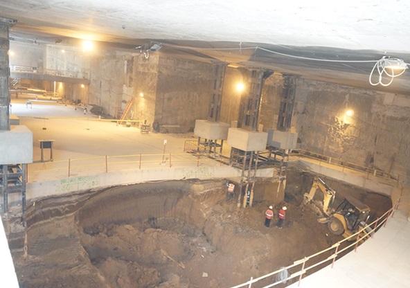Z výstavby stanice El Labrador. (foto: Metro de Quito)
