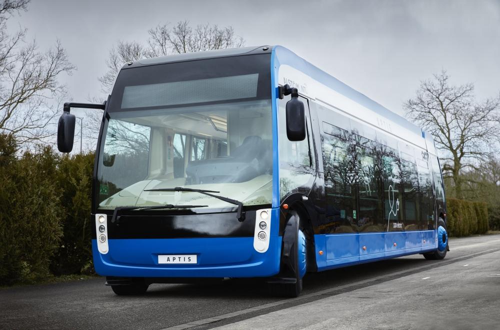Netradičně řešený 12m elektrobus Aptis od firem Alstom a NTL. (zdroj: Alstom)