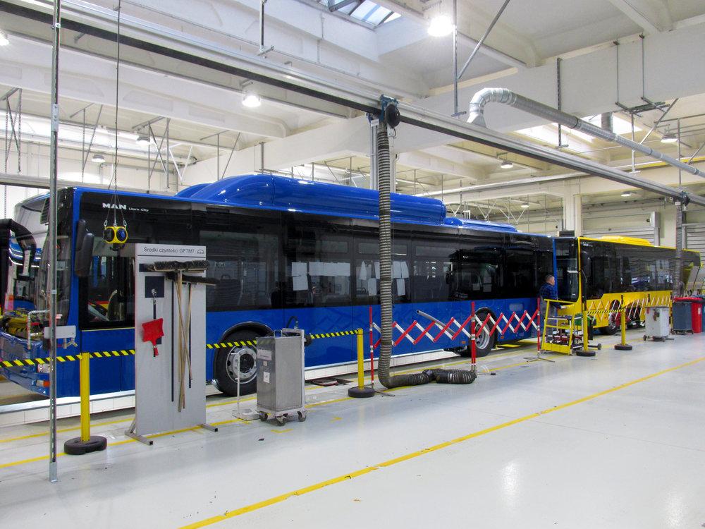 Ve Starachowicích již probíhá kompletní montáž nízkopodlažních autobusů Lion's City. (foto: MAN Truck & Bus)